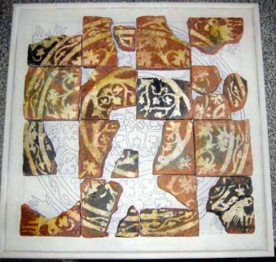 Display of medieval tiles for Shrewsbury Museum and Art Gallery