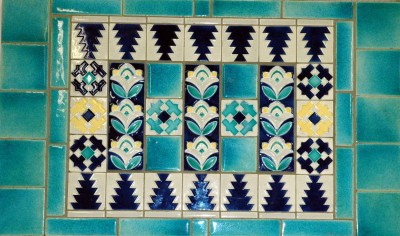 A Pool Pottery tile panel from the 1930s