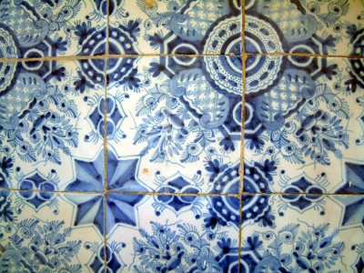 Hand painted Dutch tiles from the late eighteenth century