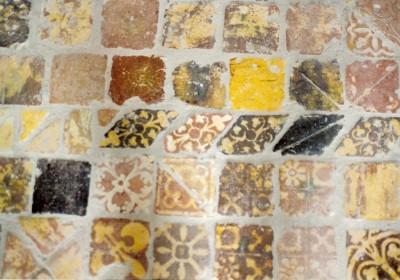 Tiles at Buildwas Abbey, Shropshire